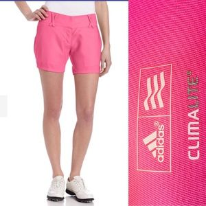 Adidas Climalite Ladies Pink Golf Shorts Sz 10